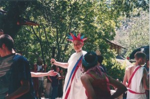 Blanche during the Tassajara July Interdependence Day Parade.