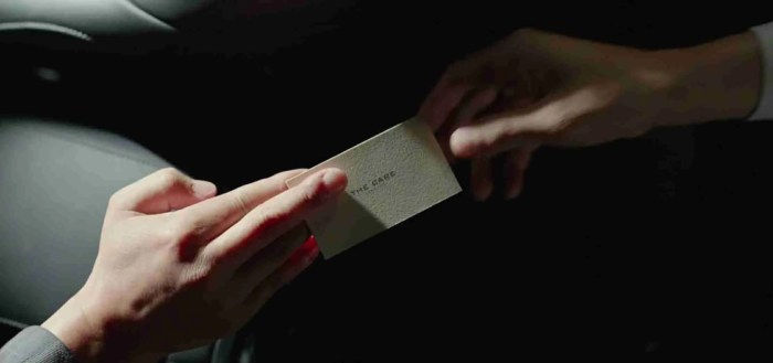 passing the business card