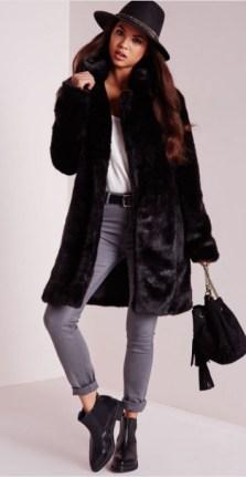 Missguided Longline Faux Fur Coat: SALE £40