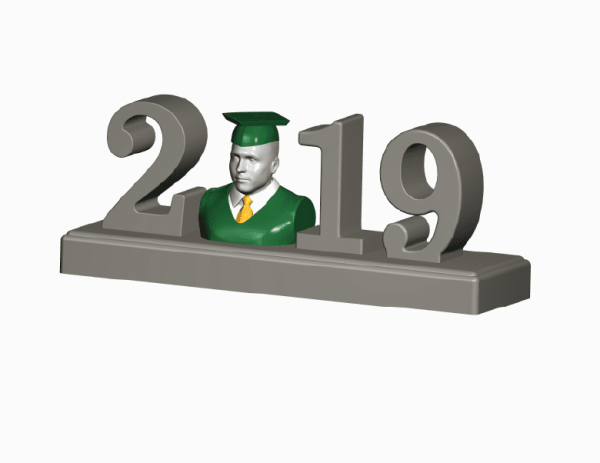 Home Decor-2019 Graduation Figurine Sculpture Statue 3D Portrait Graduation 3D Photo Graduation Photo 3D Home Decor - 2019 Graduation Figurine Sculpture Statue Shirt and Tie Small Graduation Gift Idea for Him Unique Graduation Gift for Him Graduation 3D Selfie