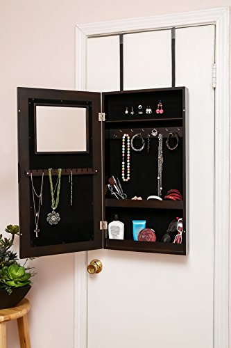WUnlimited Modern WallHanged Mirror Jewelry Cabinet