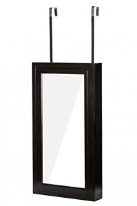 WUnlimited Modern Wall-Hanged Mirror Jewelry Cabinet ...