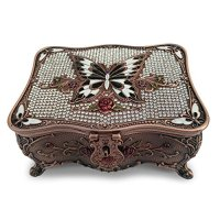 Magicpro Classic Vintage Antique Tin Rectangle Jewelry Box ...