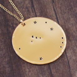 Orion constellation necklace in gold
