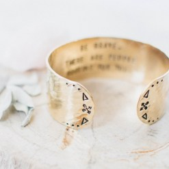 Be brave. There are people rooting for you. Brass bracelet