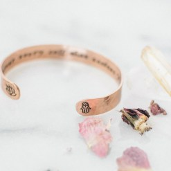 Answer every call that excites your spirit Copper bracelet