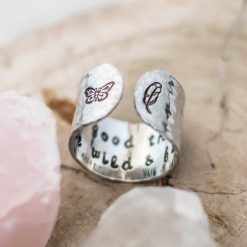 All good things are wild and free Ring
