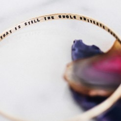 To the mind that is still Inspirational brass bangle