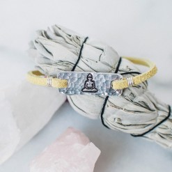 Buddha leather bracelet