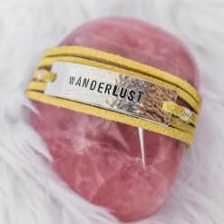 Wanderlust leather wrap bracelet