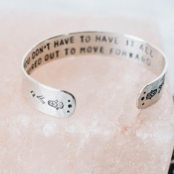 You don't have to have it all figured out Sterling silver bracelet