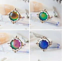 Mood Ring in Sterling Silver - color changes