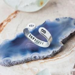 Infinite sterling silver skinny stacking ring