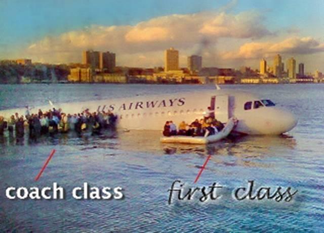 Flight1549 - Coach vs First Class