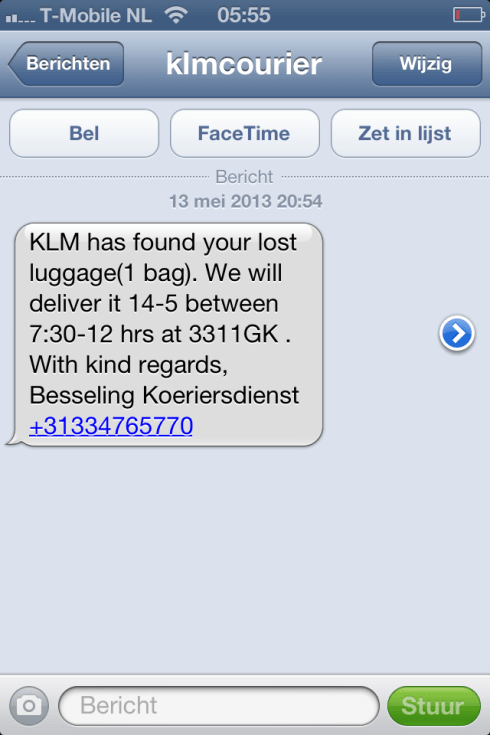 sms2klm