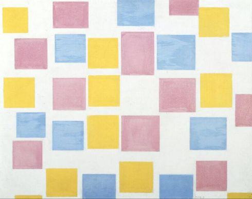 Mondriaan_compositiemetkleurvlakjes_nummer2