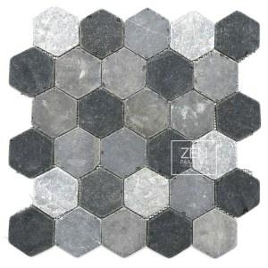 Zen Paradise Hexagon Tile - Mountain Mix