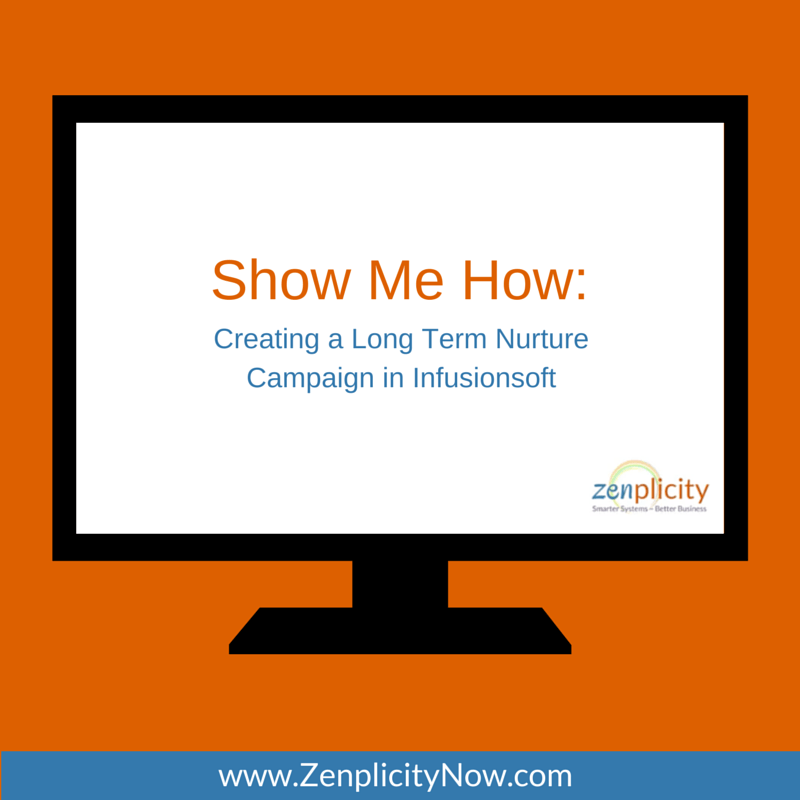 Show Me How: Creating a Long Term Nurture Campaign in Infusionsoft
