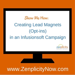 Show Me How: Creating Lead Magnets in an Infusionsoft Campaign