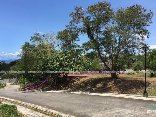 Ayala Westgrove Heights Lot For Sale with a Beautiful Panorama of Laguna de Bay from the Street