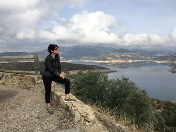 iznajar andalucia spain white village