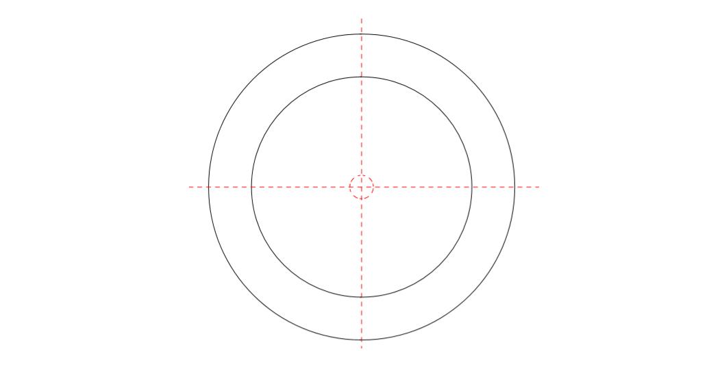 同心度と同軸度の違い。JISの定義や幾何公差の記號など