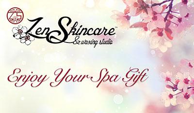 Online Gift Certificate Zen Skincare Waxing Studio Asheville, NC