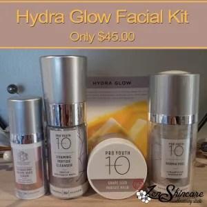 Hydra Glow Facial Kit Zen Skincare Waxing Studio Asheville NC