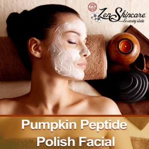 Pumpkin Peptide Polish Facial Special Zen Skincare Waxing Studio Asheville NC