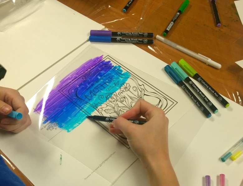 best sakura koi coloring brush pens images - printable coloring