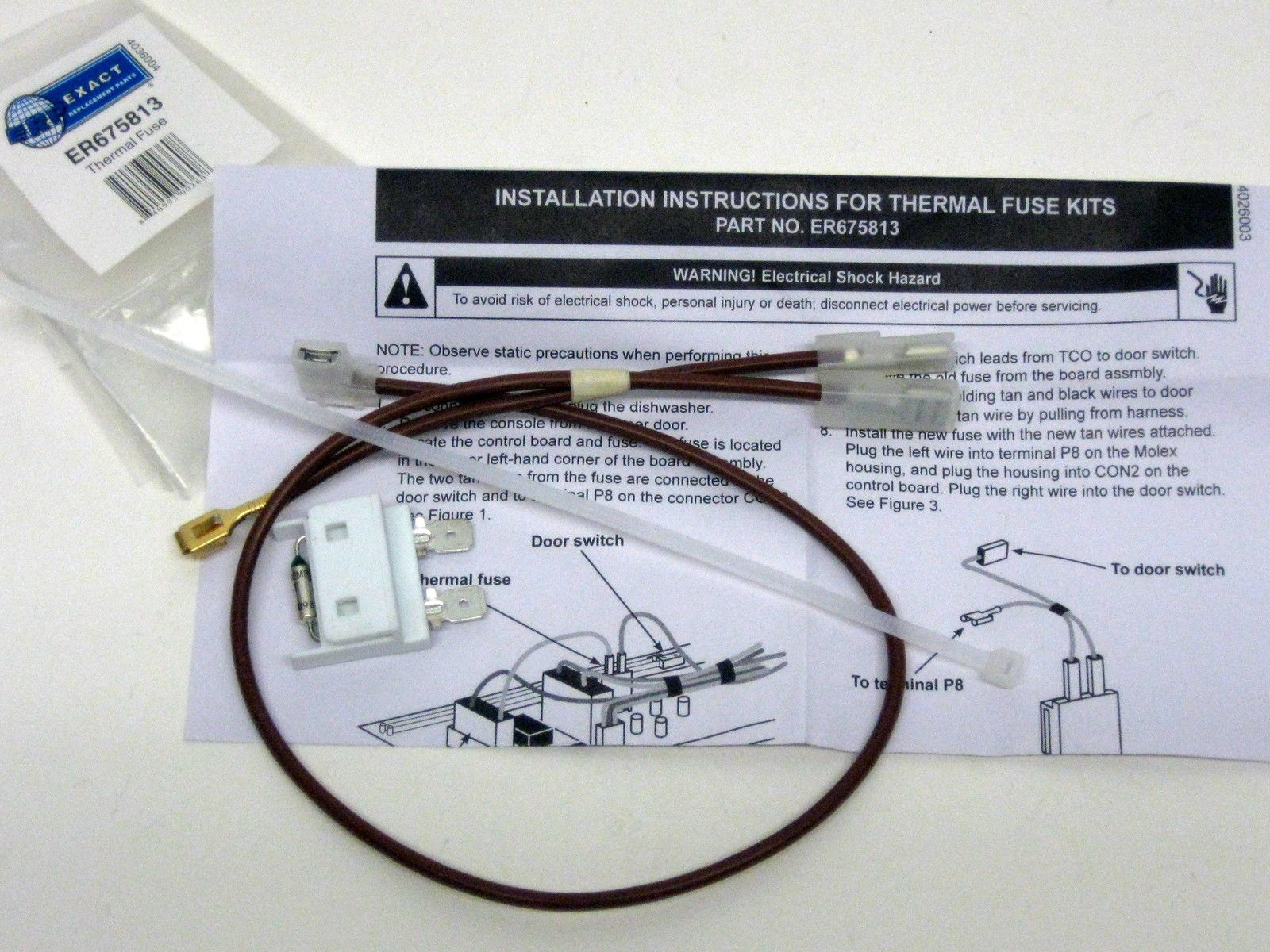For Whirlpool Kenmore Dishwasher Thermal Fuse Link