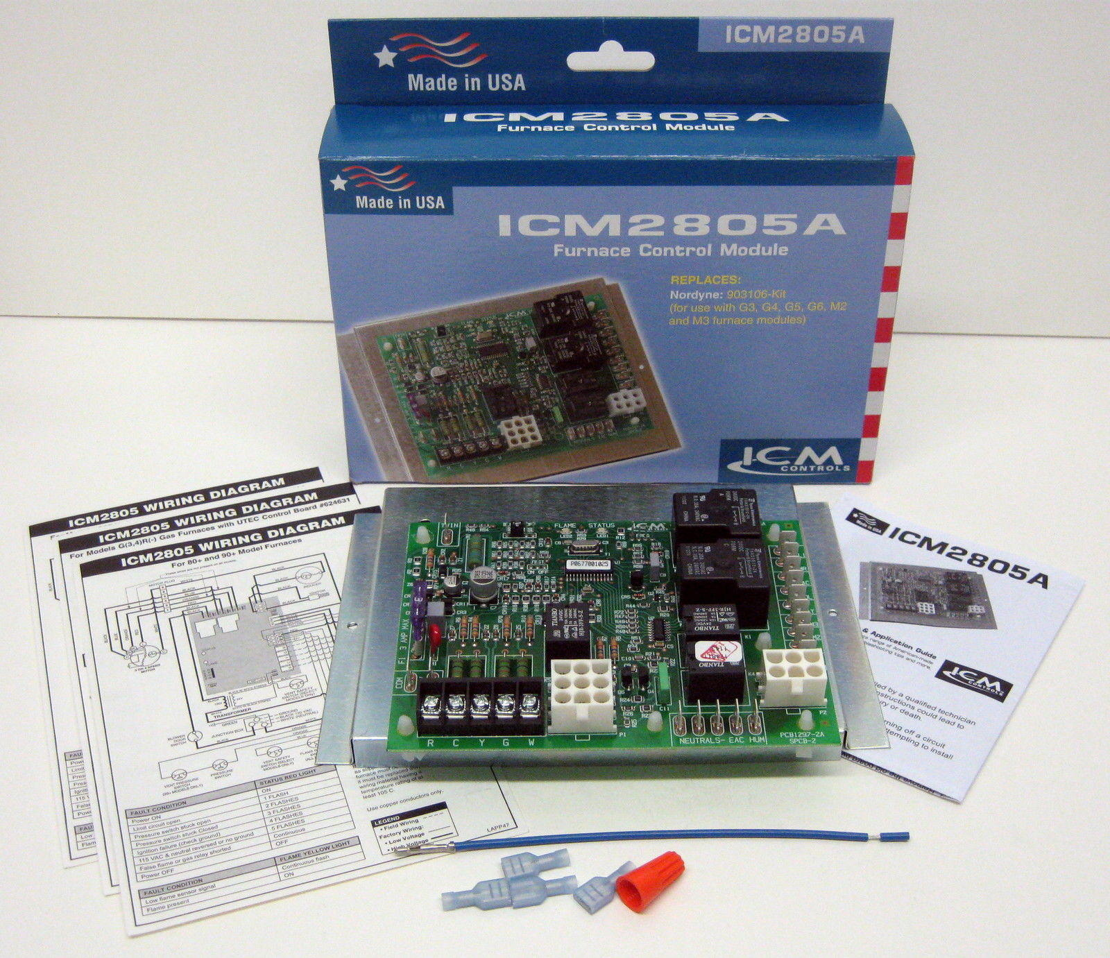hight resolution of icm2805a icm furnace control board for nordyne intertherm miller 903106 624631 b