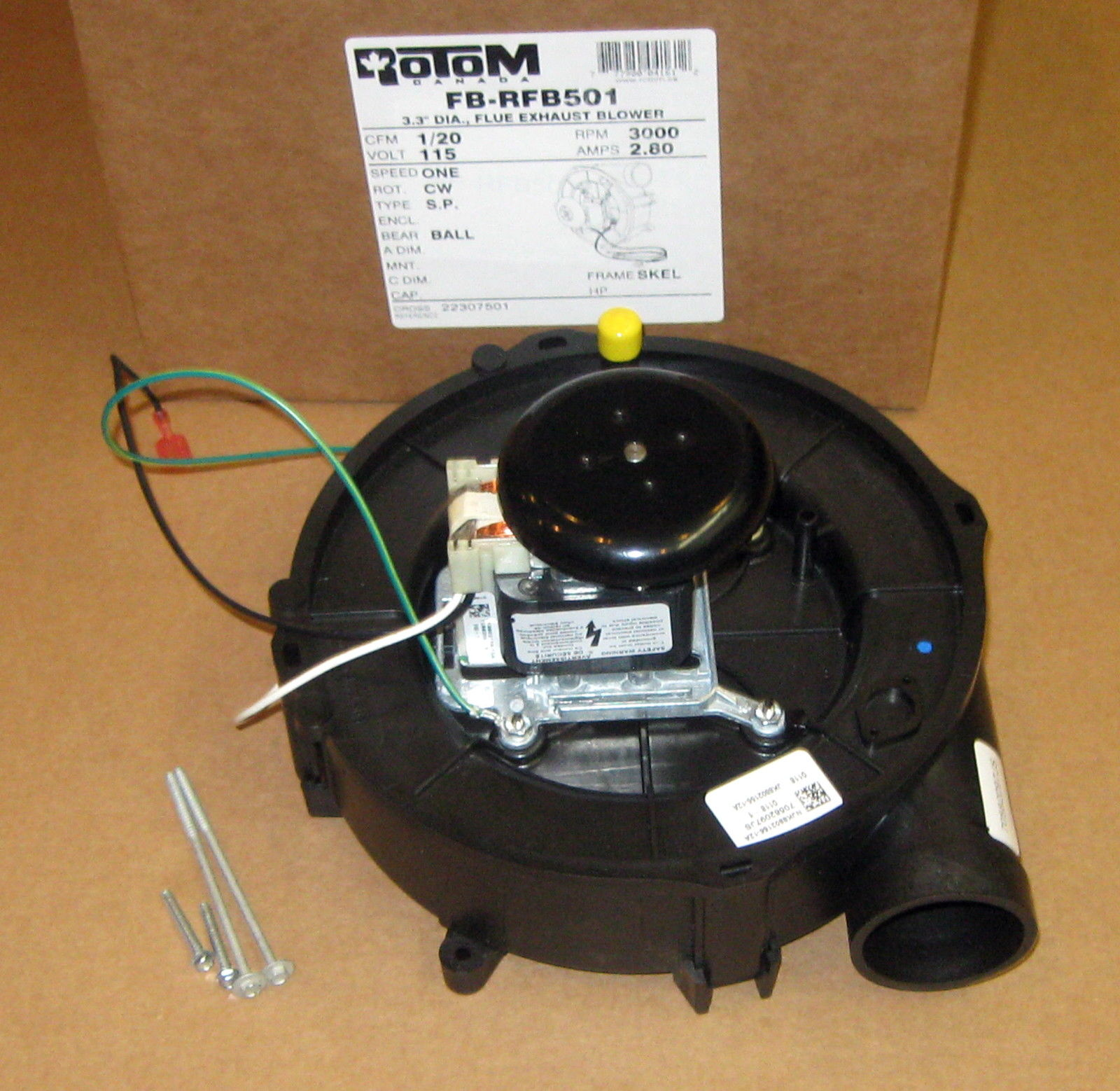 hight resolution of draft inducer furnace blower motor for goodman 22307501 70582097 rotom rfb501