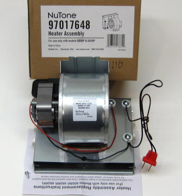 Broan Nutone Motor 990805936 And Heater Assembly