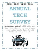 Annual Tech Survey 2014 sign