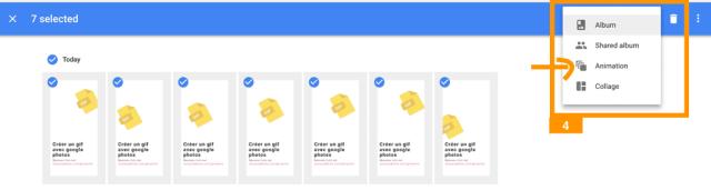 Image qui montre comment importer des images dans Google Photos