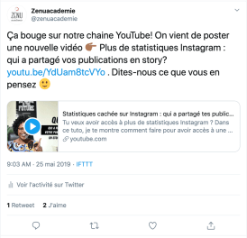 IFTTT : Twitter et Youtube