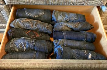 Jeans in drawer