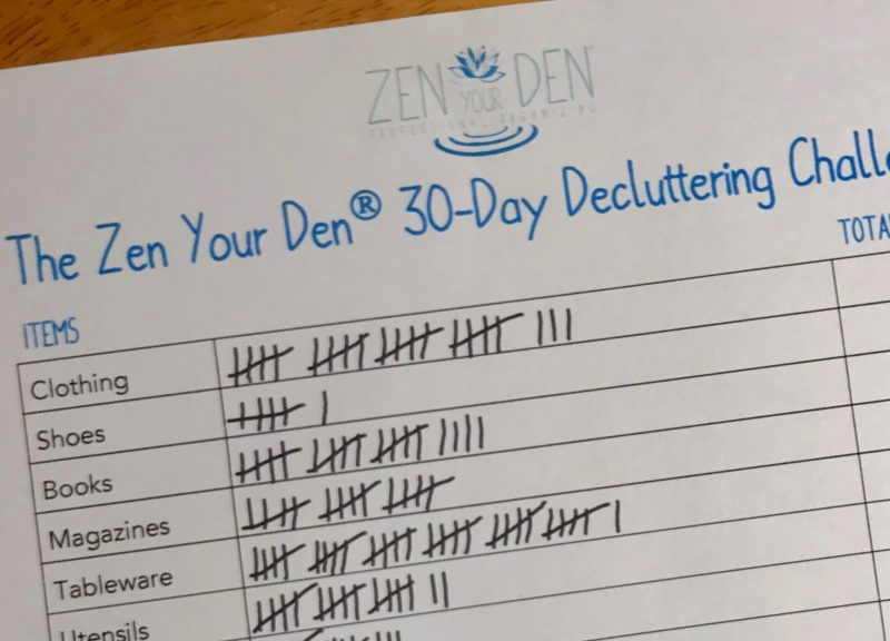 The Zen Your Den 30-Day Decluttering Challenge