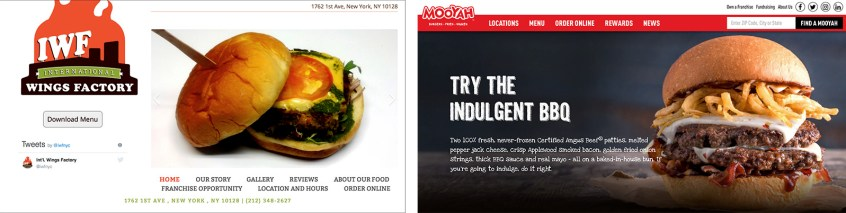 7 Sins of Restaurant Websites - bad photography