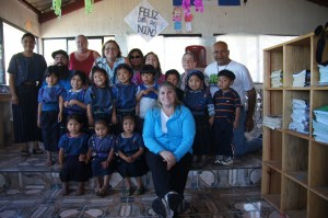 Visiting a preschool in Guatemala.
