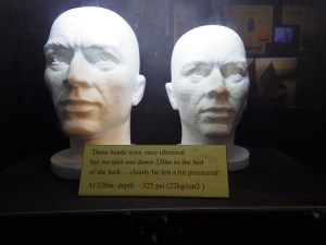 What do you see when you look at these two heads? One has been to the bottom of the Loch Ness in Scotland