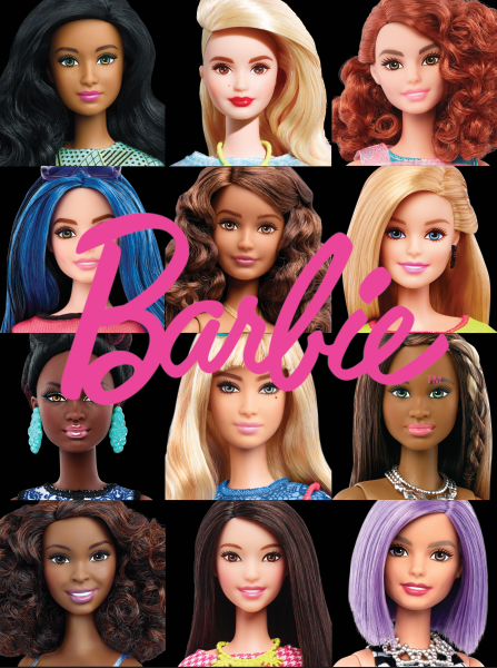 BarbieHeads - Rectangle - Full color