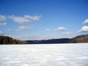 Frozen Lake Monroe