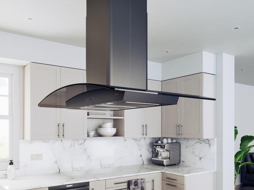 island kitchen hood best zephyr ravenna range