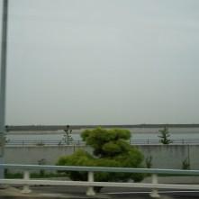 Crossing the bridge to Osaka