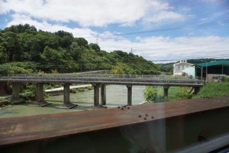 We watched rural Kansai zipped past