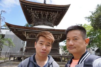 Taking a wefie with Tahoto Pagoda