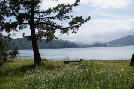 Miyazu Bay view on the sandbar