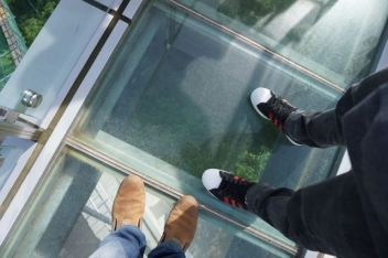 The glass panel
